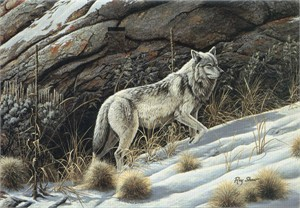 "Ray Shaw Handsigned and Numbered Limited Edition Print: ""Looking for the Pack"""