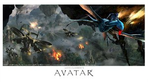 "Fox Studio Art Avatar Giclee on Exhibition Fiber Paper: ""Aerial Battle"""
