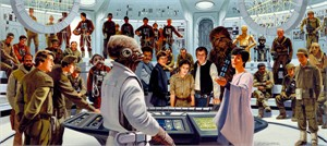 "Ralph McQuarrie Limited Edition Star Wars Giclee on Canvas:""Plan of Attack"""