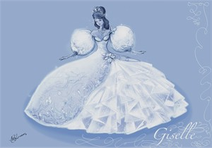 "Disney Enchanted Giclee Print (Canvas): ""Dress of Her Dreams"""