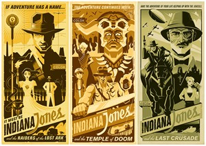 "Eric Tan Limited Edition Gallery Wrap Canvas Giclee:""Indy Adventure (Set of 3)"""
