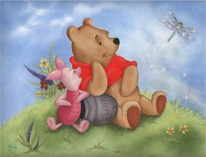 "Mark Cote Disney  Limited Lithograph w/ Swarovski crystals on Paper: ""Sunny Day Smiles"""