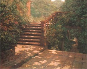 "Philip Craig Hand Signed and Numbered Limited Edition Print ""Steps at Hestercombe"""
