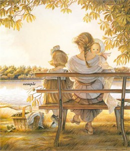 "Tricia Romance Hand Signed and Numbered Limited Edition Print:""Golden Moments"""