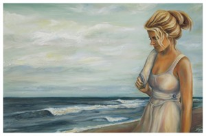 """Tanya Jean Peterson Handsigned and Numberd Giclee on Canvas:""""Artist's Walk"""""""