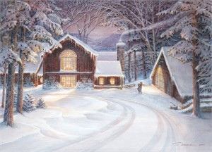 "Trisha Romance Handsigned and Numbered Limited Edition: ""Snowed In"""