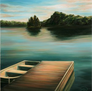 """Tanya Jean Peterson Handsigned and Numberd Giclee on Canvas:""""In the Stillness"""""""