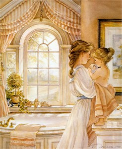 """Trisha Romance Handsigned & Numbered Limited Grand Romance Collectors Edition Canvas Giclee:""""Heart to Heart"""""""
