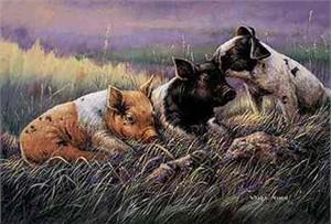 "Wanda Mumm Limited Edition Print: ""Three Little Pigs"""