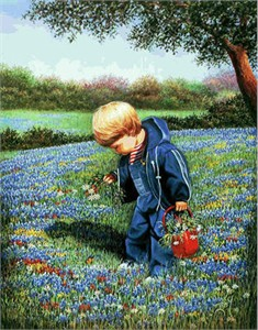"Louita Irby Limited Edition Print: ""Pulling Flowers For Momma"""