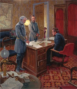 "Mort Kunstler Handsigned and Numbered Limited Edition: ""White House Strategy """
