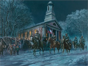 """Mort Kunstler Limited Edition Giclee on Canvas: """"Soldier of Faith"""""""