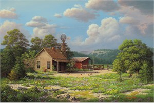 """R.W. Hedge  Limited Edition Museum Quality Canvas Giclée: """"GrandPa's House"""""""