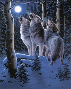 """R.W. Hedge Limited Edition Museum Quality Canvas Giclée: """"Midnight Clear"""""""