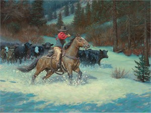 """Mark Keathley Handsigned and Numbered Limited Edition Embellished Canvas Giclee:""""Night Jitters"""""""