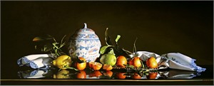 "Alexander Sheversky Hand Signed and Numbered Limited Edition Canvas Giclee:""Exotic Still Life"""