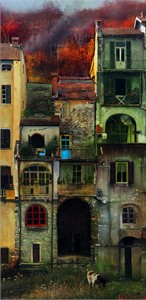 """Alexander Sheversky Hand Signed and Numbered Limited Edition Canvas Giclee:""""Vladimir Sorin In Autumn"""""""