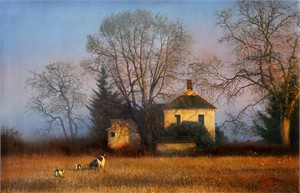 """Alexander Sheversky Hand Signed and Numbered Limited Edition Canvas Giclee:""""Vladimir Sorin Evening"""""""