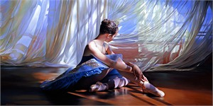 """Alexander Sheversky Hand Signed and Numbered Limited Edition Canvas Giclee:""""Enchanted Moment"""""""