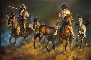 """Chris Owen Hand Signed and Numbered Limited Edition Giclee Print and Canvas :""""The Storm"""""""