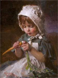 "Morgan Weistling Limited Edition Fine Art SmallWorks™ Giclée Canvas: ""Jessica"""