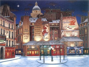 """Liudmila Kondakova Signed And Numbered Limited Edition Serigraph:""""Winter In Paris """""""