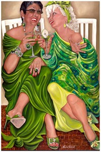 "Natasha Pantelyat Handsigned and Numbered Limited Edition Giclee on Canvas:""Apple Martini"""