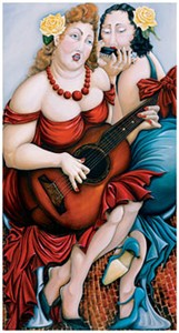 """Natasha Pantelyat Handsigned and Numbered Limited Edition Giclee on Canvas:""""Love Song"""""""