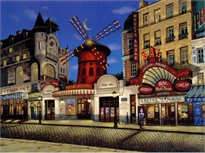 "Liudmila Kondakova Signed And Numbered Limited Edition Serigraph:""Moulin Rouge """