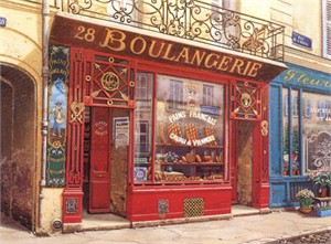 "Liudmila Kondakova Signed And Numbered Limited Edition Serigraph:""28 Boulangerie """