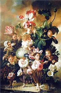 """Elena Flerova Limited Edition Giclee on Canvas:""""Flower Children"""""""