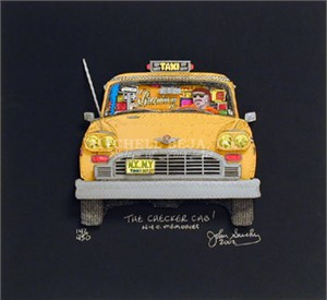 "John Suchy Limited Edition Mixed Media:""The Checker Cab (Black)"""