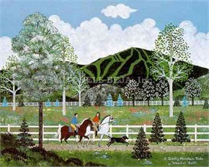 """Jane Wooster Scott Limited Edition Print:""""A Jaunty Mountain Ride"""""""