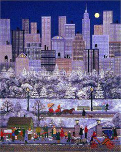 "Jane Wooster Scott Limited Edition Print:""New York, New York"""