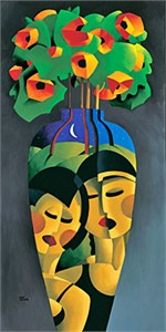 "Rene Lalonde Limited Edition Hand Pulled Serigraph:""Friendship Bouquet"""
