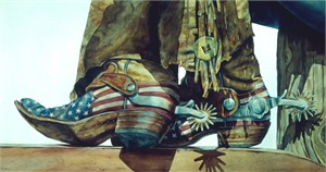 """Nelson Boren Handsigned and Numbered Limited Edition Giclee on Paper:""""Uncle Sam"""""""
