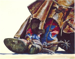 """Nelson Boren Handsigned and Numbered Limited Edition Giclee on Paper:""""Arizona Stars"""""""
