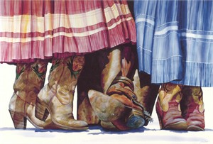 """Nelson Boren Handsigned and Numbered Limited Edition Giclee on Paper:""""Choices, Choices"""""""