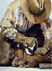 "Nelson Boren Handsigned and Numbered Limited Edition Giclee on Paper:""Busy Work"""