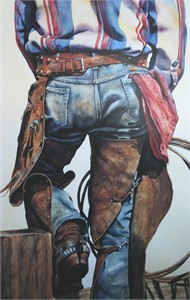 "Nelson Boren Handsigned and Numbered Limited Edition Lithograph on Paper:""Standing Easy"""