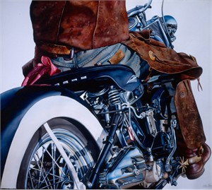 """Nelson Boren Handsigned and Numbered Limited Edition Giclee on Paper:""""Show Horse"""""""