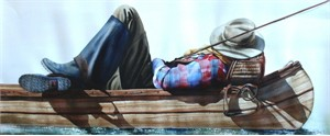 """Nelson Boren Handsigned and Numbered Limited Edition Giclee on Paper:""""Out Of The Office"""""""
