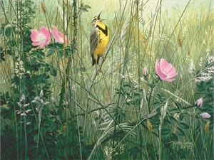 "Stephan Lyman Open Edition Fine Art Canvas Giclée:""Song of the Meadow"""