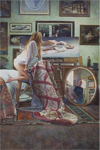"Steve Hanks Limited Edition Canvas Giclee:"" In the Artist´s Studio"""
