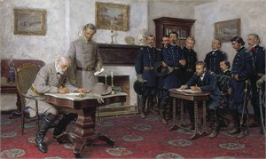 "Tom Lovell Limited Edition MuseumEdition Giclée Canvas:""Surrender at Appomattox"""