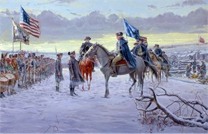 "Mort Künstler Hand Signed and Numbered Limited Edition Canvas Giclee :""The Winds of Change (Washington at Valley Forge)"""