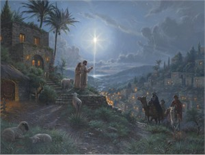 """Mark Keathley Hand Signed and Numbered Limited Edition Embellished Canvas Giclee:""""Light of the World"""""""