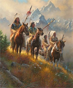 "Mark Keathley Hand Signed and Numbered Limited Edition Embellished Canvas Giclee:""Rise Above"""