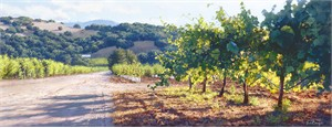 """June Carey Hand Signed and Numbered Limited Edition Masterwork Canvas Giclee :""""Through The Vines"""""""