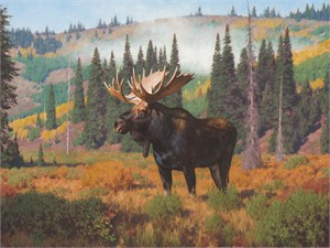 """Tucker Smith Hand Signed Limited Canvas Giclee:""""Morning at Ditch Creek"""""""